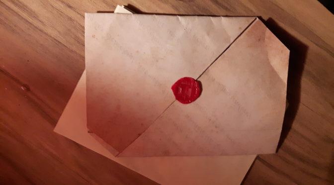 Briefliches Ersuchen an den Baron von Champa